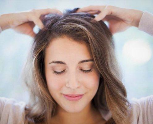 thin hair treatment head massage
